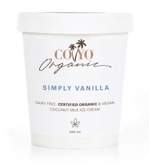 Co Yo Organic Coconut Ice Cream Simply Vanilla 500ml x 6