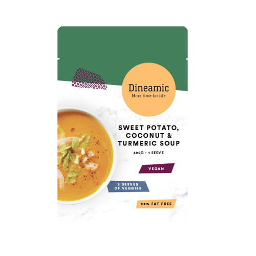Dineamic Soup Sweet Potato Coconut & Tumeric 400g x 12