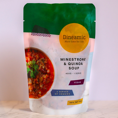 Dineamic Soup Minestrone & Quinoa 400g x 12