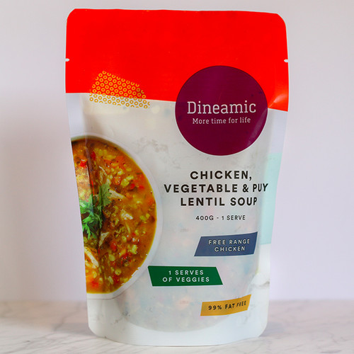 Dineamic Soup Chicken Veg & Puy Lentil  400g x 12
