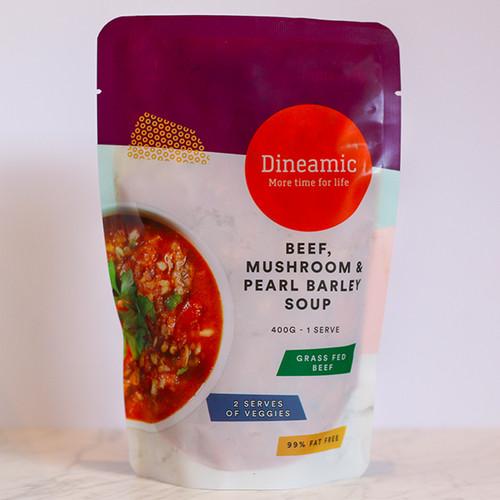 Dineamic Soup Beef Mushroom & Pearl Barley 400g x 12