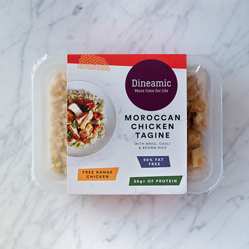 Dineamic Meal Tray Chicken Tagine with Rice 360g x 5