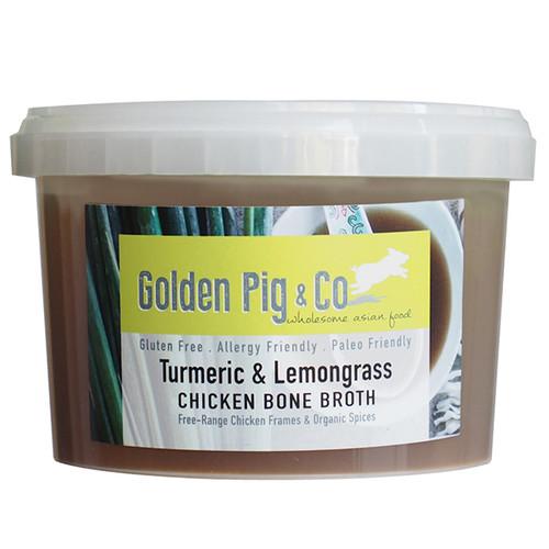 Golden Pig Bone Broth Chicken & Lemongrass 450g x 8