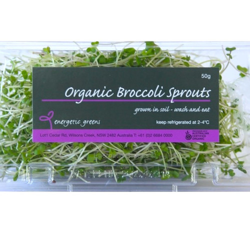 Broccoli Sprouts Organic Punnet 50g Limited (Energetic)