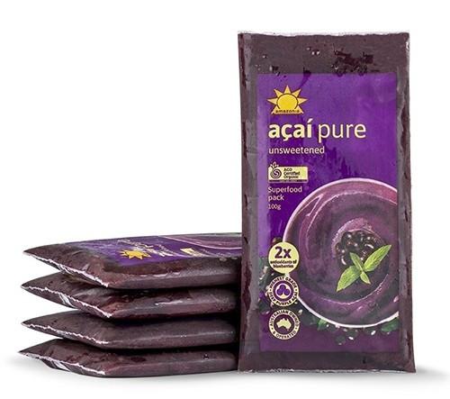 Amazonia Acai Smoothie Pure Frozen 4- Packs 100g x 10 (Pre-Order Item)