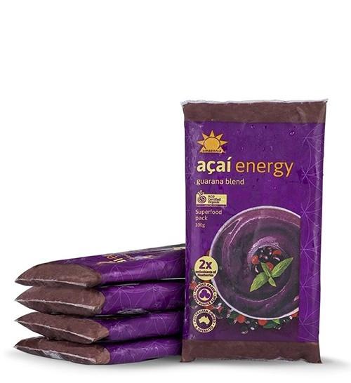 Amazonia Acai Smoothie Energy Frozen 4- Packs 100g x 10 (Pre-Order Item)