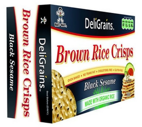 DeliGrain Brown Rice Crisps Black Sesame 100g x 6