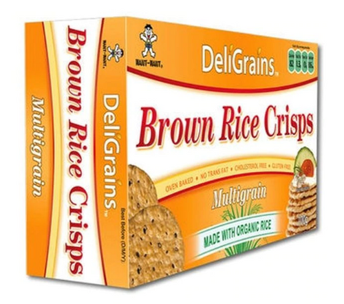 DeliGrains Crisps Brown Rice Multigrain 100g x 6
