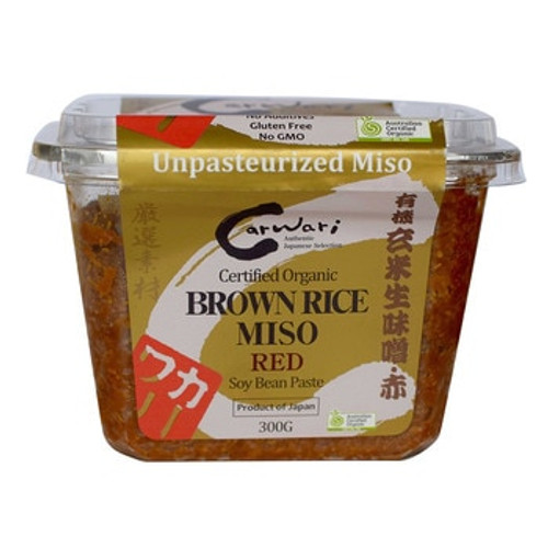 Carwari Organic Brown Rice Miso Paste - Red 300g x 6