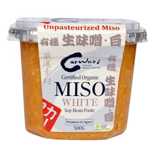 Carwari Organic Miso Paste White 500g x 6