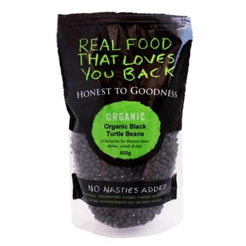 Honest to Goodness Organic Black Turtle Beans 500g x 6 (Pre-Order Item)