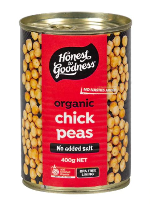 Honest to Goodness Organic Chickpeas 400g x 6 (Pre-Order Item)