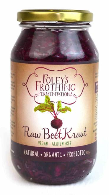 Foley's Frothing Fermentations Raw Beet Kraut, 500g
