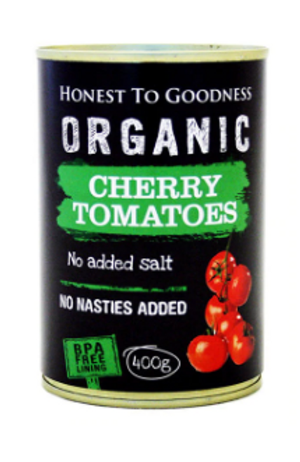 Honest to Goodness Organic Cherry Tomatoes 400g x 6 (Pre-Order item) Back in Stock 20/10/2020