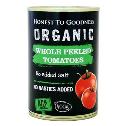 Honest to Goodness Organic Whole Peeled Tomatoes 400g x 12