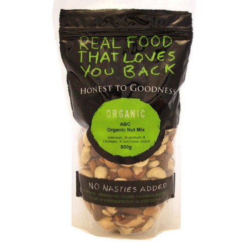 Honest to Goodness ABC Organic Raw Nut Mix 500g x 6 (Pre-Order Item)