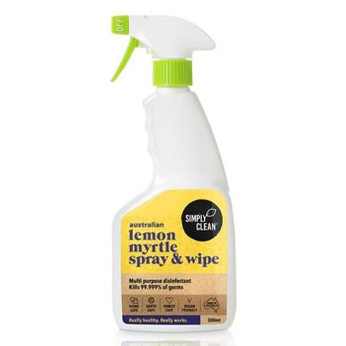 Simply Clean Lemon Myrtle Disinfectant Spray & Wipe 500ml