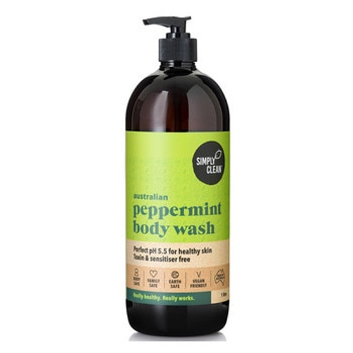 SimplyClean Peppermint Body Wash 1L x 2 (Pre-Order Item)