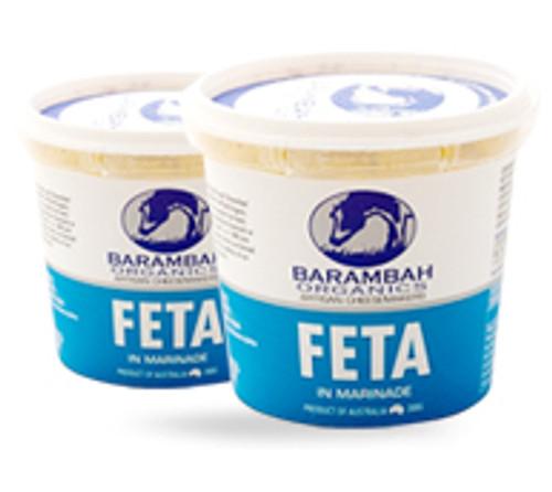 Barambah Organics Cheese Marinated Feta 200g x 12