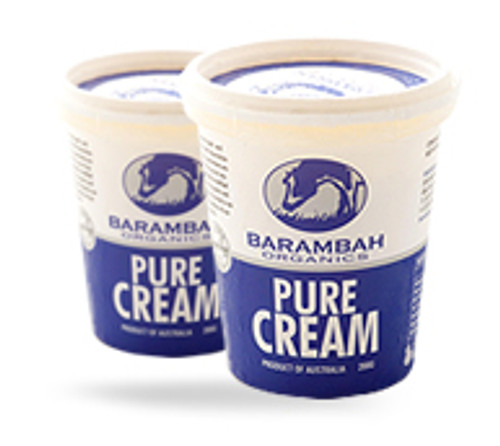 Barambah Organics Pure Cream 200ml x 12 (Pre-Order Only)
