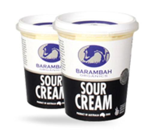 Barambah Organics Sour Cream 200ml x 12 (Pre-Order Only)