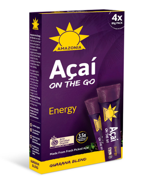 Amazonia Acai On The Go  Energy 4-Pack 80g x 6 (Pre-Order Item)