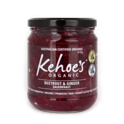 Kehoe's Kitchen Organic Sauerkraut Beetroot & Ginger 410g x 8