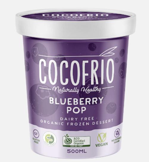 Cocofrio Ice Cream Blueberry Pop Coconut 500ml x 6