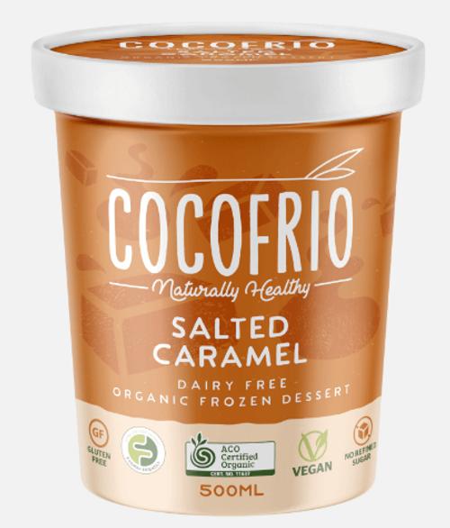 Cocofrio Ice Cream Salted Caramel Coconut 500ml X 6