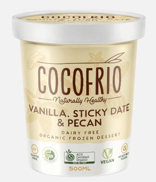 Cocofrio Ice Cream Vanilla Sticky Date & Pecan Coconut 500ml x 6