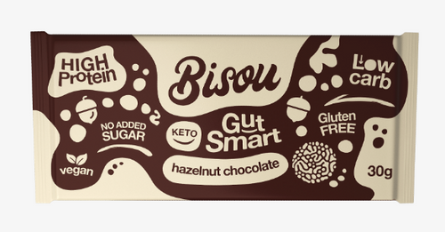 Bisou Keto Hazelnut Chocolate Bar 30g x 12