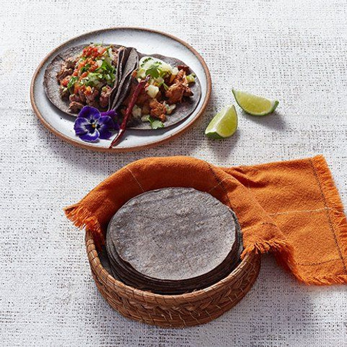 La Tortilleria Blue Corn (Mayan) Tortilla 14.5cm 1kg x 2 Packets