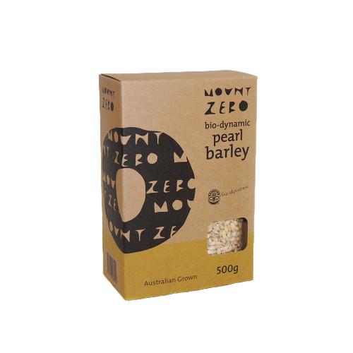 Mount Zero Biodynamic Pearl Barley 500g x 12