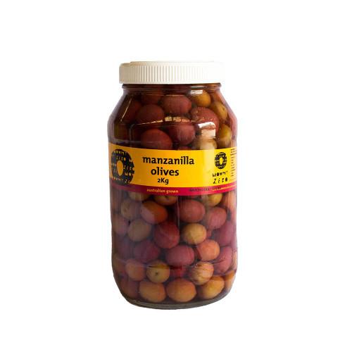 Mount Zero Black Manzanilla Olives  2kg