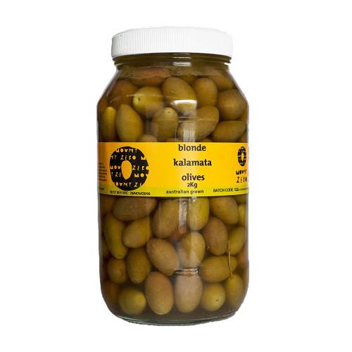 Mount Zero Blonde Kalamata Olives  2kg