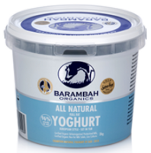 Barambah Organic Natural Yoghurt 2Kg x 3