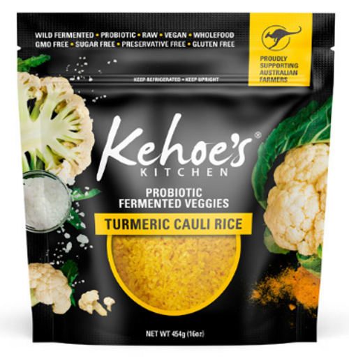 Kehoe's Kitchen Pouch Turmeric Cauliflower Rice 454g