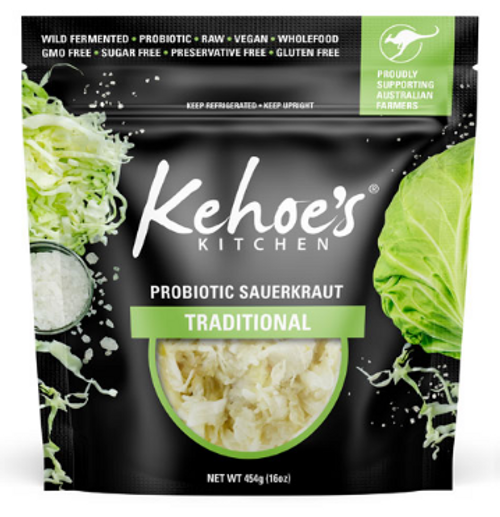 Kehoe's Kitchen Pouch Traditional Suerkraut 454g