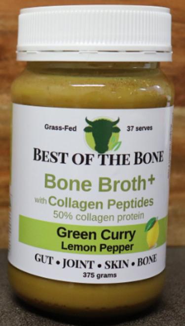 Best of the Bone Broth Plus Green Curry Lemon Pepper 375g