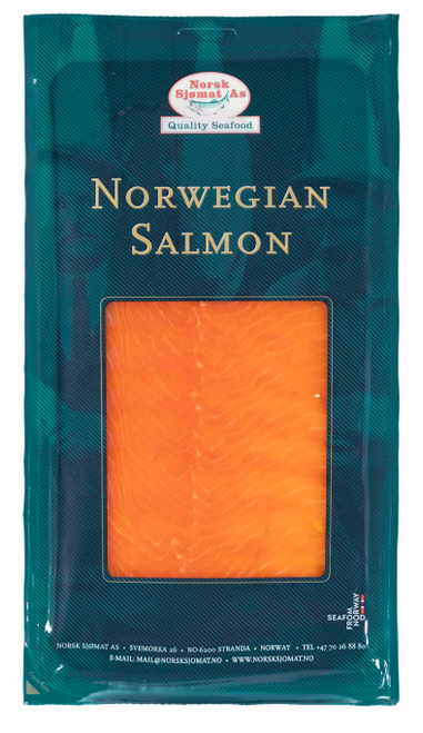 Norsk Sjomat As Norweigan Smoked Salmon Nitrate Free 200g x 6