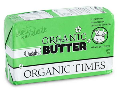 Organic Times Organic Butter Unsalted 250g x 24