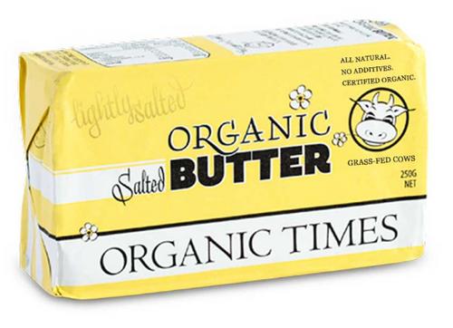 Organic Times Organic Butter Salted 250g x 24
