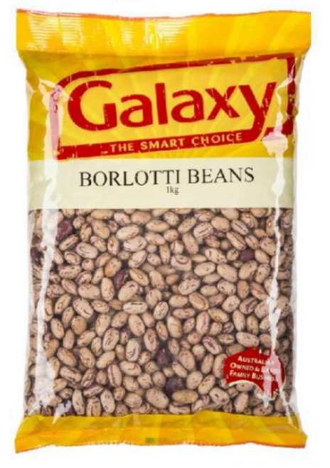Galaxy Borlotti Beans Dry 1Kg x 5