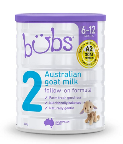 Nature Bubs Goat Milk Follow-on Formula 800g x 6 (Stage 2)