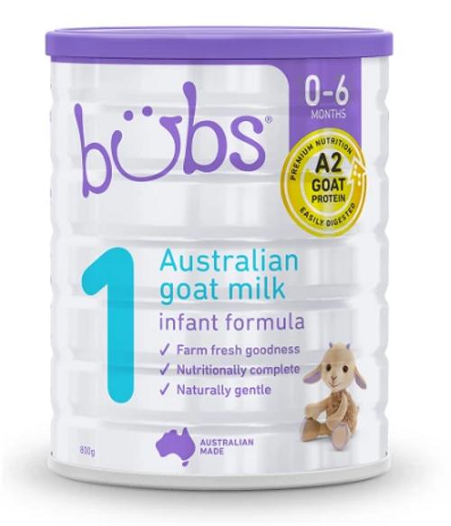 Nature Bubs Goat Milk Infant Formula 800g x 6 (Stage 1)