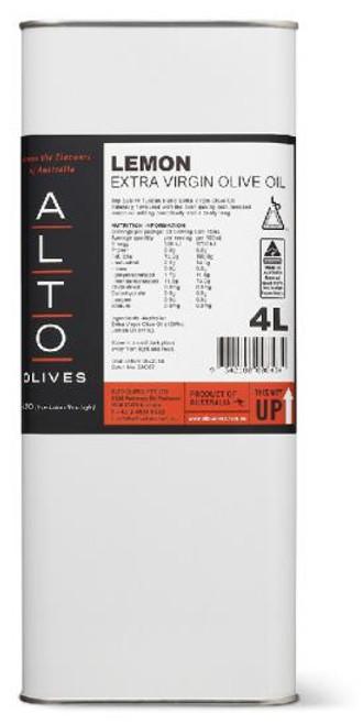 Alto Oil Olive Extra Virgin Lemon 4L