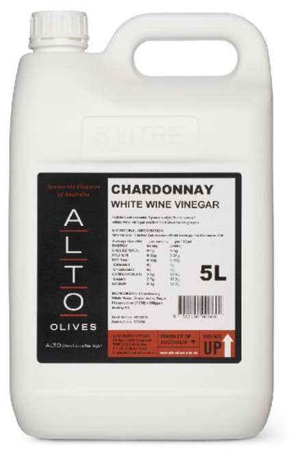 Alto Vinegar White Wine Chardonnay 5L
