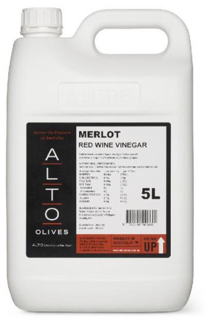 Alto Vinegar Merlot 5L