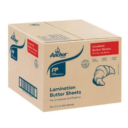 Anchor-Fonterra Butter Sheets Unsalted Nz 20 x 1kg