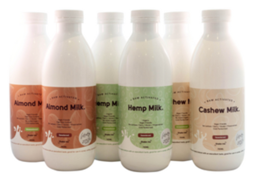 Where The Wild Things Grow Raw Activated Non Dairy Cashew Milk Sweetened 750ml x 6